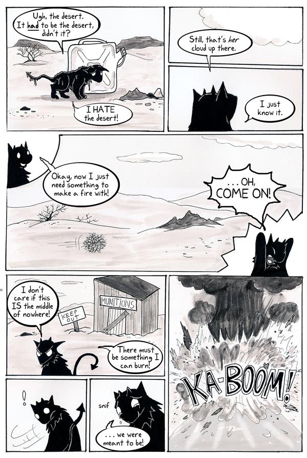 When demon kitties sweat, it's an all-over sweat!